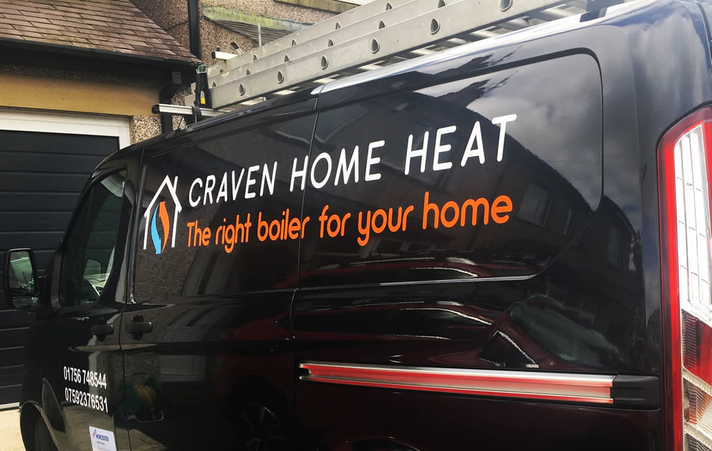 Van graphics for Craven Home Heat