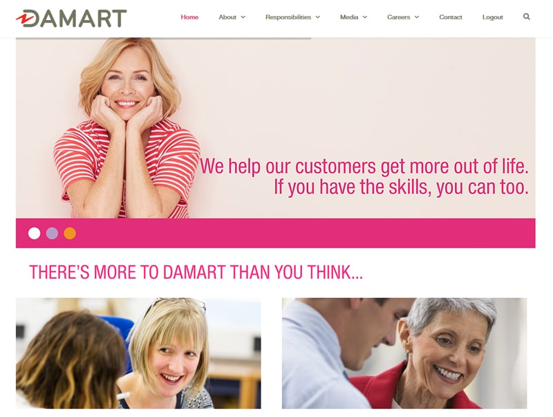 Damart Corporate Website UK