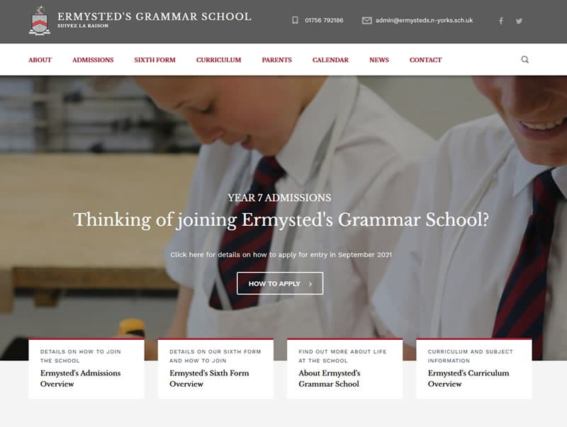 ermysteds grammar school wordpress website