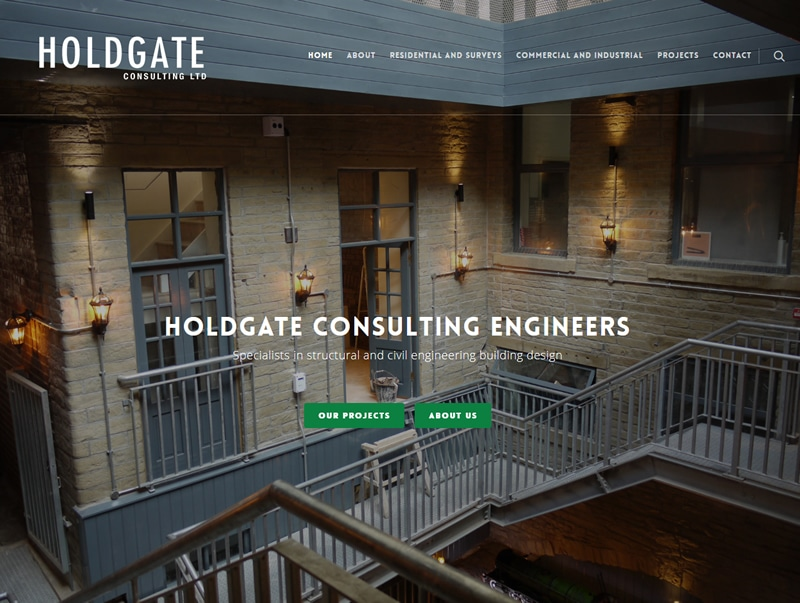holdate engineering wordpress website design