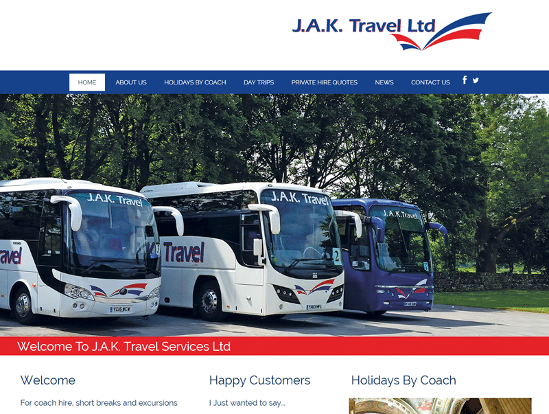jak travel css responsive website design