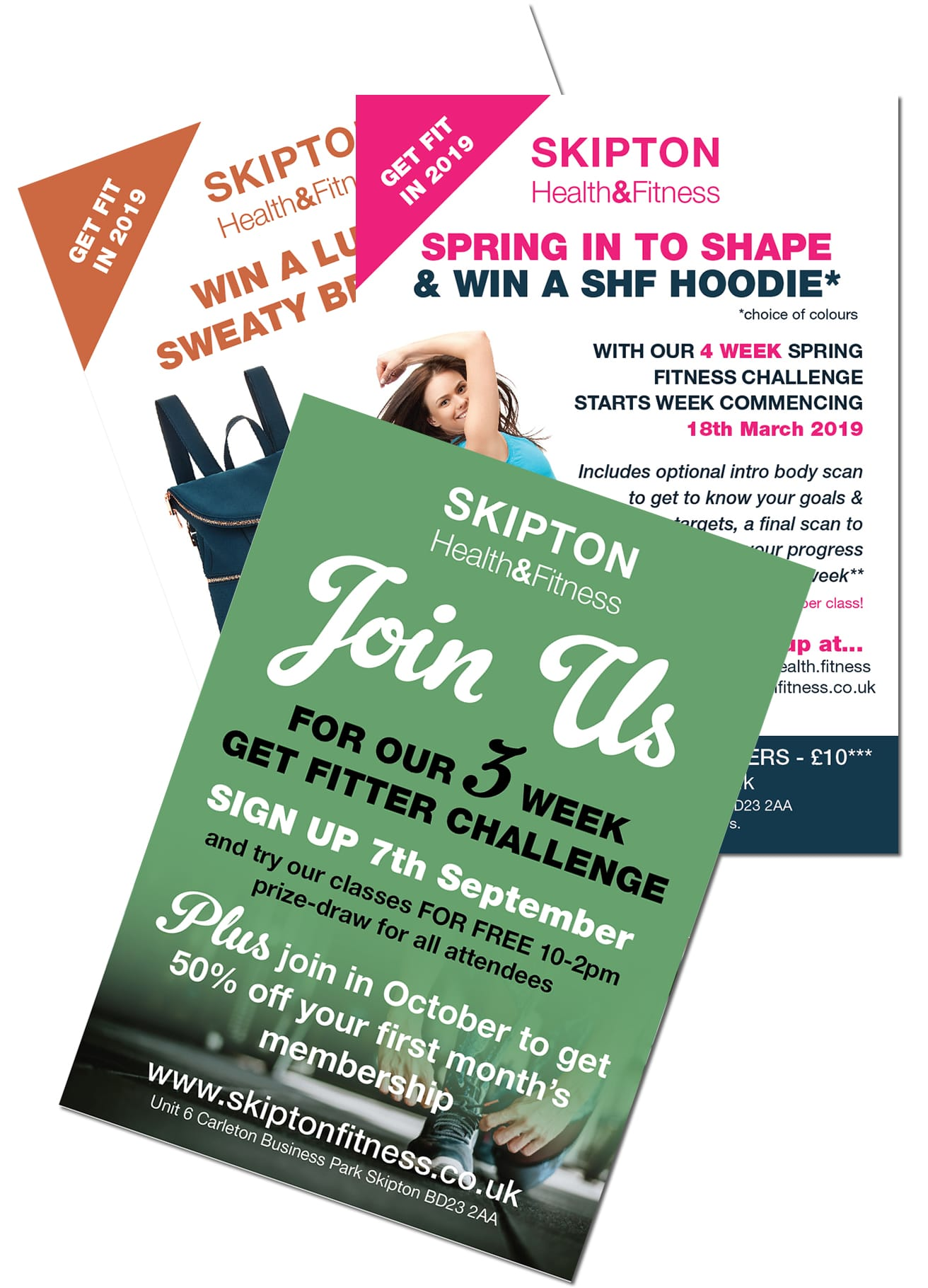 skipton fitness leaflet design