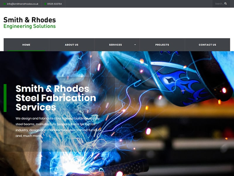 smith and rhodes engineering website design