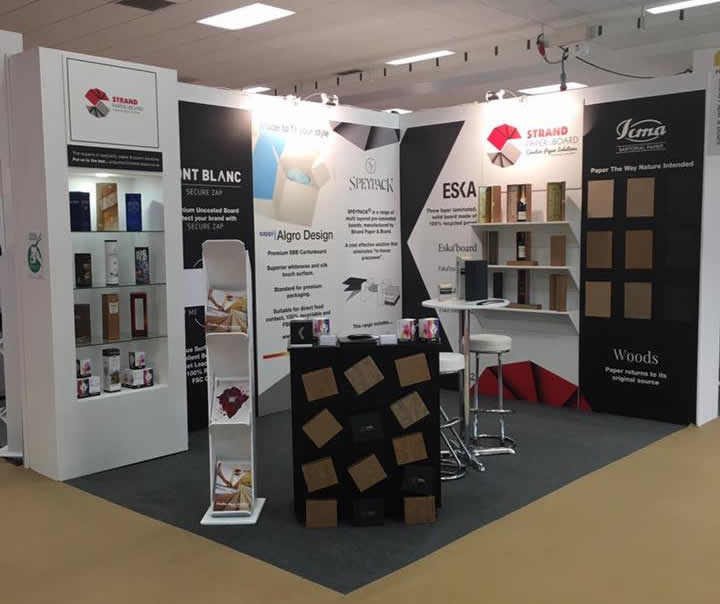 strand paper exhibition stand