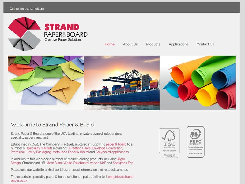 strand paper website design bingley