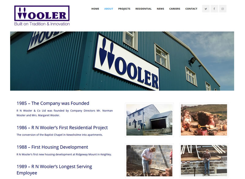wooler history web page