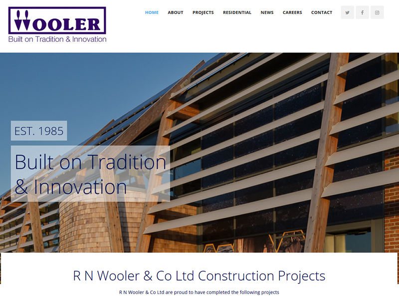 RN wooler Keighley website design