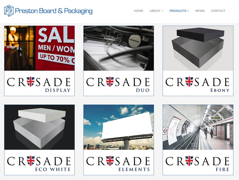 preston board and packaging woo commerce catalogue