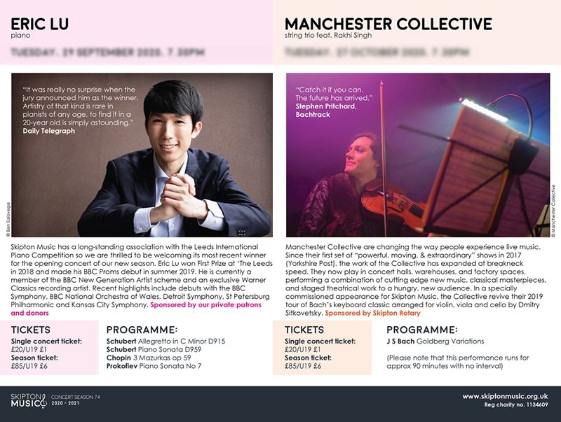 skipton music brochure spread