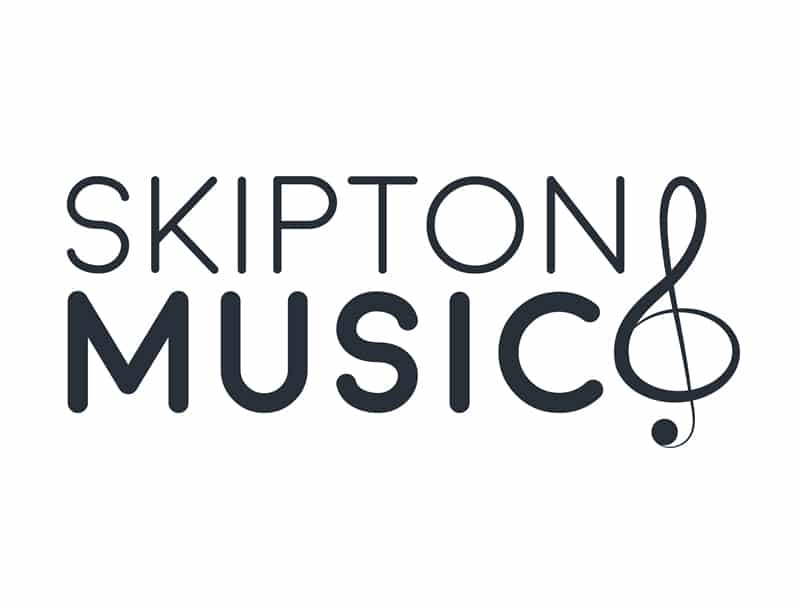 skipton music charity logo design