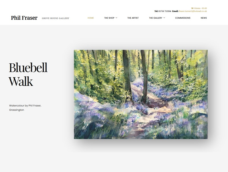 fraser colour art gallery ecommerce website shop