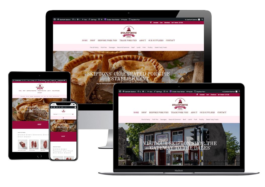 stanforth butchers eCommerce website