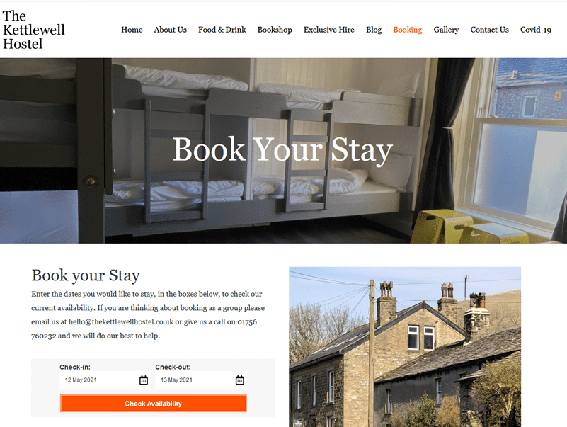 the kettlewell hostel boooking