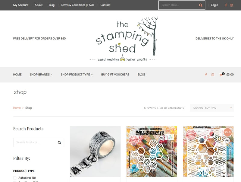 the stamping shed online shop