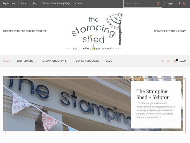 the stamping shed website