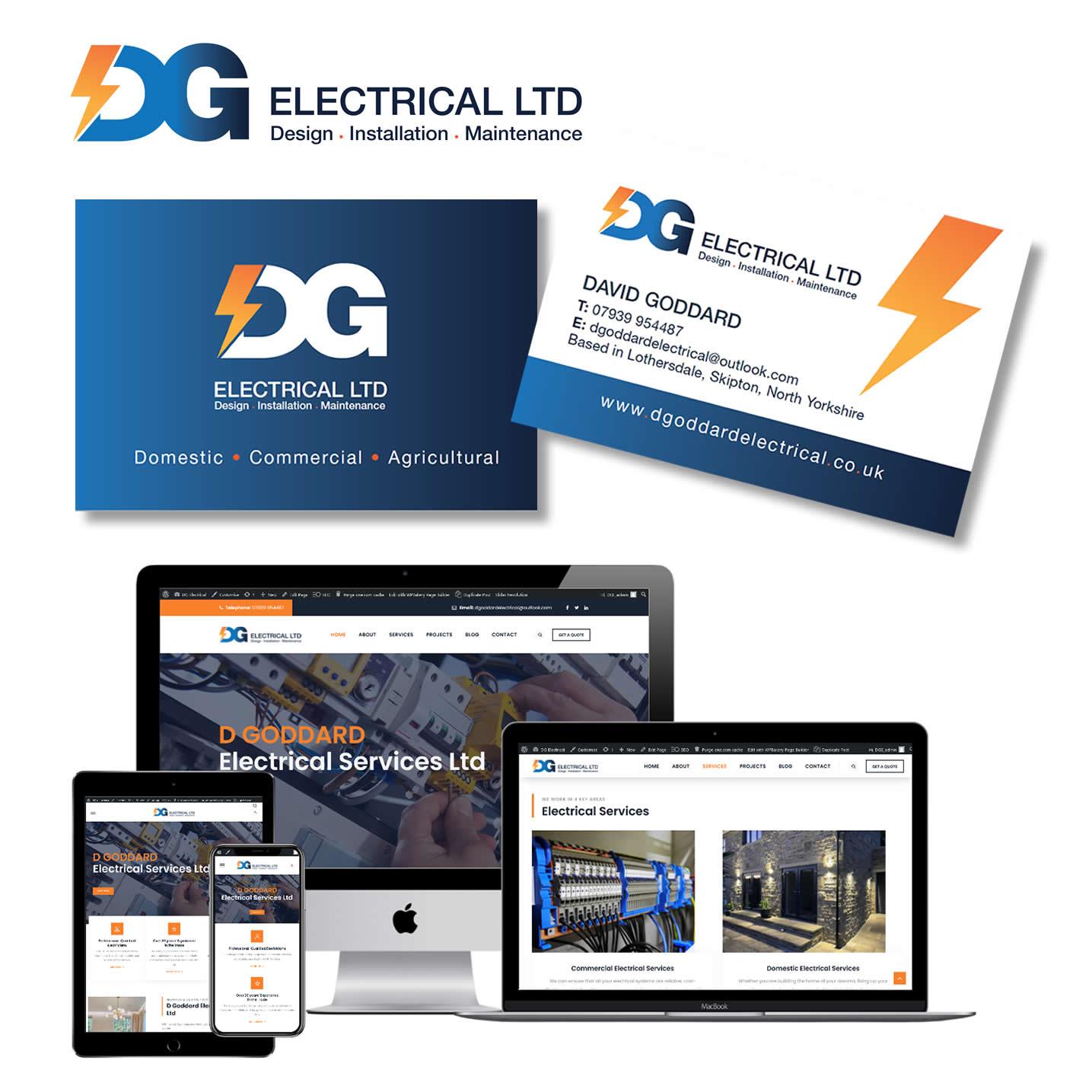 dg electrical logo design and website design