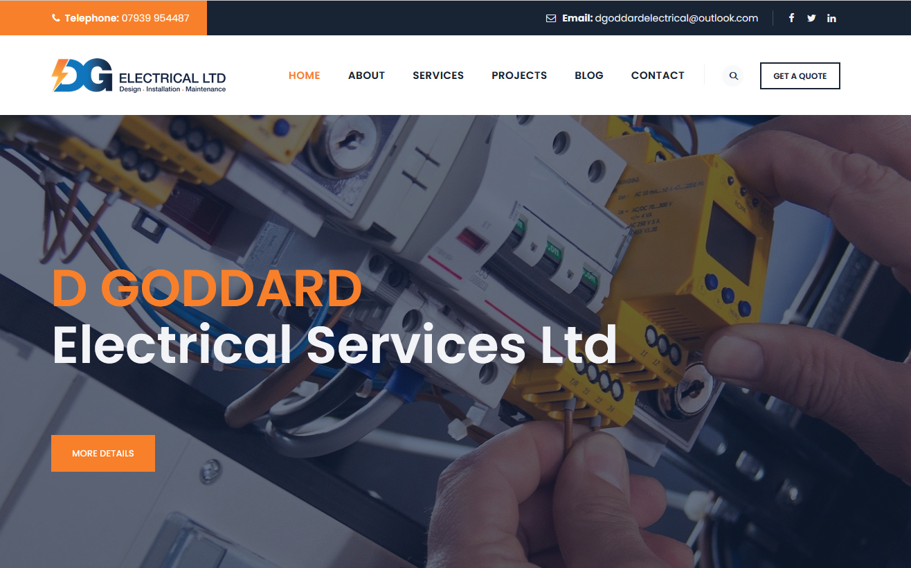 dg electrical website home page